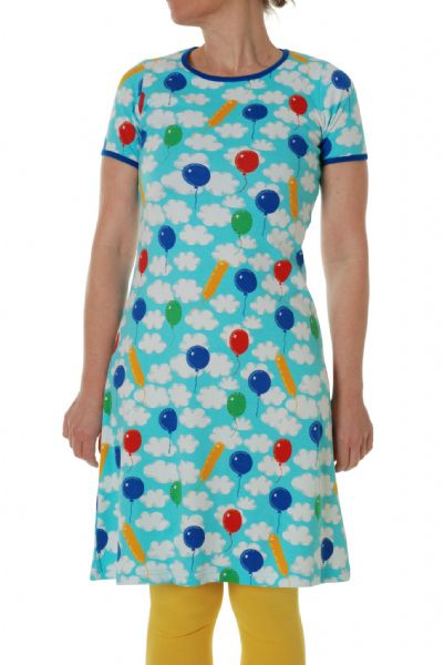 Duns Mama Short Sleeve Dress A Cloudy Day